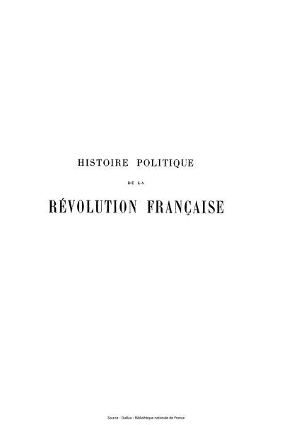 File:Aulard - Histoire politique de la Révolution française.djvu