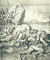 Avstrijska straža v tirolskih gorah napade sovražno kolono.jpg