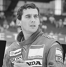 Black and white photograph of Senna