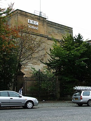 BBC Scotland - BBC Scotland's former headquarters on Queen Margaret Drive, Glasgow