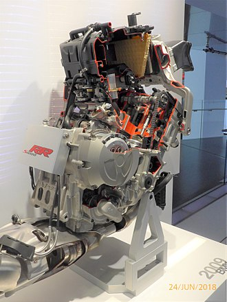 BMW S1000RR - S1000RR engine cutaway in BMW Museum.