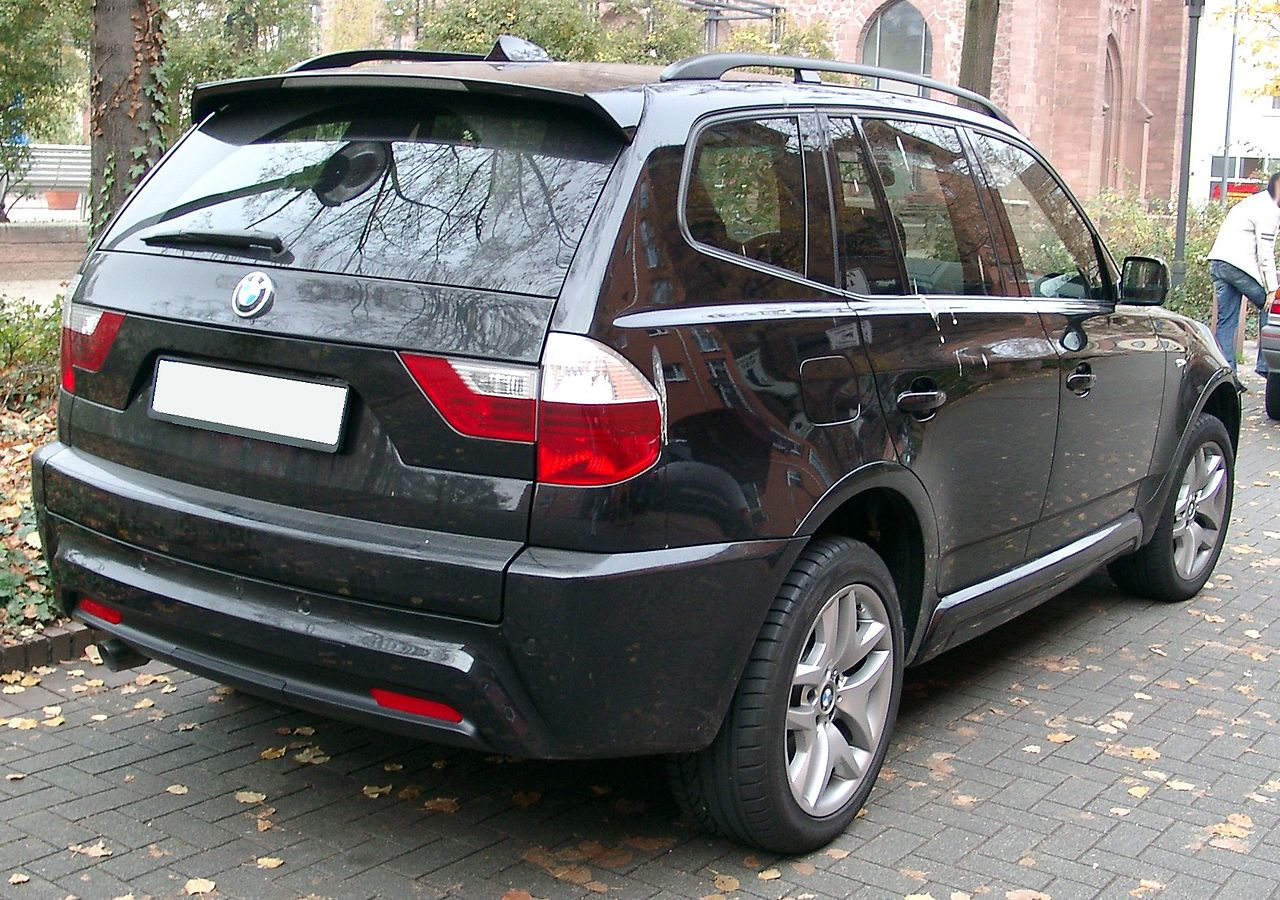 file bmw x3 rear wikimedia commons. Black Bedroom Furniture Sets. Home Design Ideas