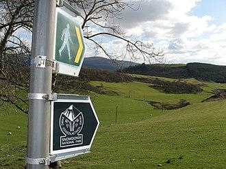 Snowdonia - Southern edge. Waymarked path near Llyn Barfog in Gwynedd