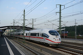 Montabaur station - Montabaur station with non-stopping ICE 3