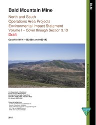 Bald Mountain Mine : north and south operations area projects environmental impact statement : draft