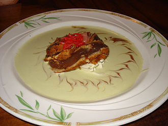 Beurre blanc - Seared yellowfin tuna in a beurre blanc sauce flavored with wasabi