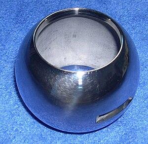 Ball for a ball valve.