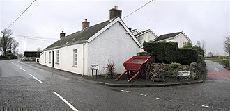 Ballyeaston - The corner of Trenchill Road and Ballynashee Road