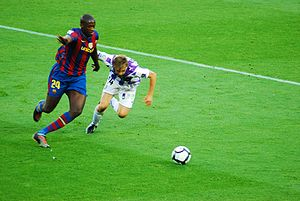 Yaya Touré - Touré playing for Barcelona.