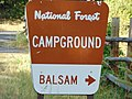 Balsam campground sign, Hobble Creek Canyon, Utah, Jul 16.jpg