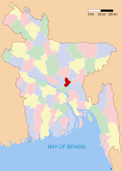 Location of Narayanganj in Bangladesh