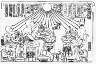 Amarna Tomb 1 - Banquet scene