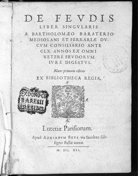 Bartholomaeus, Baraterius