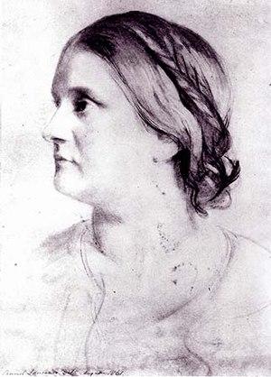 Barbara Bodichon - Barbara Bodichon portrait by Samuel Lawrence