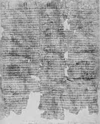 Barons' Letter, 1301, exemplar A