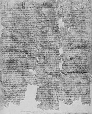 Barons' Letter of 1301 - Letter A