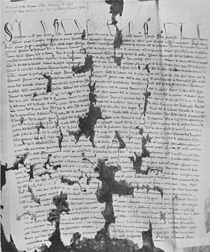 Barons' Letter of 1301 - Letter B