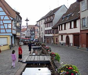 Barr, Bas-Rhin - A typical street in Barr