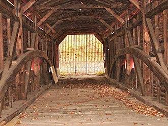 Bartram's Covered Bridge - Image: Bartrams Bridge interior