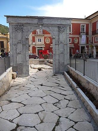Arpino - Ancient Roman basalt pavement in Arpino