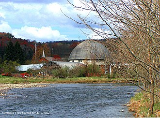 National Register of Historic Places listings in Chenango County, New York - Image: Bates 1931 Brook Haven Round Barn Greene NY