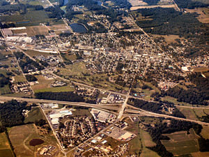Batesville, Indiana - Batesville from the air, looking southwest
