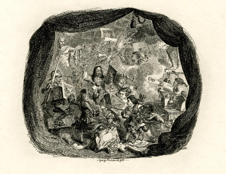Battle of Engravers by George Cruikshank 1828