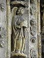 Bazas (33) Cathédrale Saint-Jean-Baptiste Façade ouest Portail central 2ème voussure 11.JPG