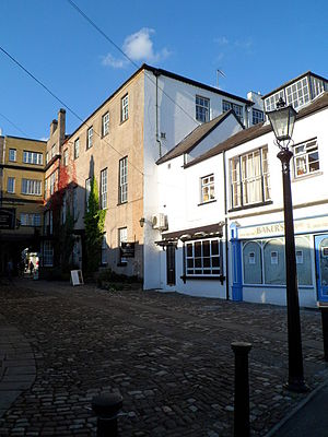 The Beaufort Arms Hotel, Monmouth - The court behind which now has small shops