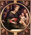 Beccafumi, Sacra Famiglia con san Giovannino e l'agnellino tra serafini.jpg