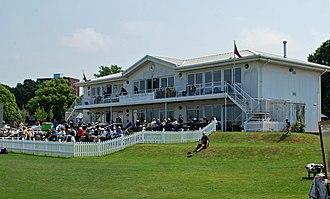 County Cricket Ground, Beckenham - The pavilion at the County Ground, Beckenham after redevelopment