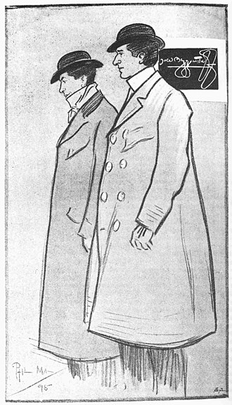 Beggarstaffs - The Beggarstaffs, drawing of William Nicholson (left) and James Pryde by Phil May (1864–1903), first published in The Studio, September 1895