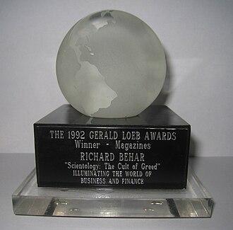 Gerald Loeb Award - Image: Behar Loeb Award