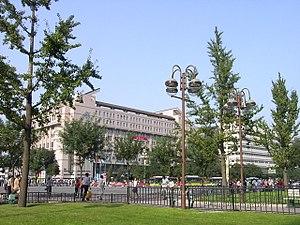 Librería de Pekín, rodeada de gingkos