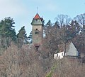 Beim 366 km langen Neckartalradweg, Ottilienkapelle mit Schütteturm in Horb am Neckar - panoramio.jpg