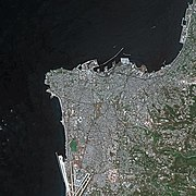 Beirut seen from SPOT satellite