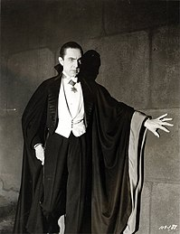 Bela Lugosi as Dracula, anonymous photograph from 1931, Universal Studios.jpg