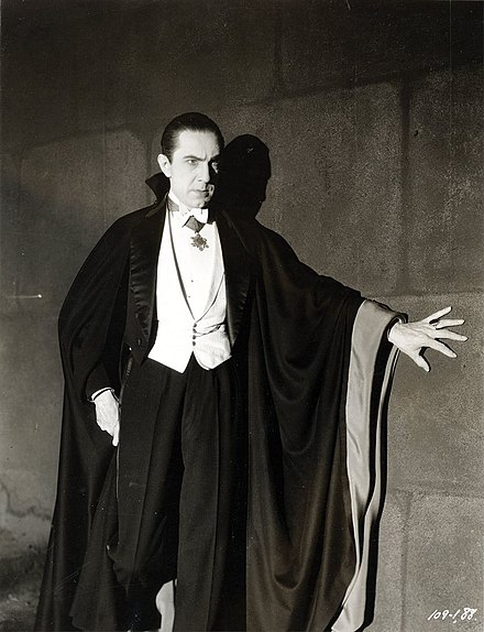 Bela Lugosi as Dracula Bela Lugosi as Dracula, anonymous photograph from 1931, Universal Studios.jpg