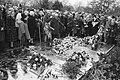 Belangstellenden leggen bloemen tijdens de jaarlijkse herdenking op de Nieuwe Oo, Bestanddeelnr 931-2813.jpg