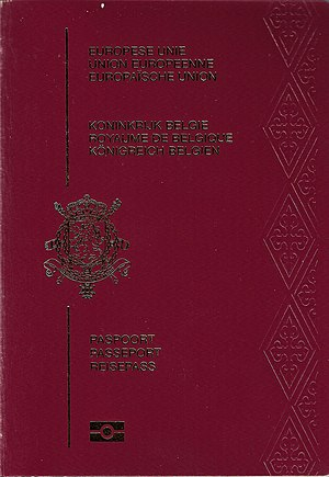 Passports of the European Union - Image: Belgian Passport 2008 cover