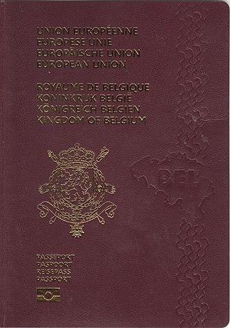 Passports of the European Union - Image: Belgian Passport 2008 cover