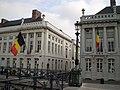 Belgian flags flying, Martyrs' Square - Place des Martyrs - Martelaarsplaats, Brussels, Belgium (4039376515).jpg