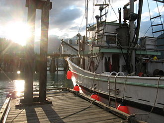 Bella Coola, British Columbia - The wharf at Bella Coola