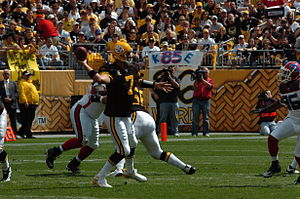 2007 Buffalo Bills season - Image: Ben Roethlisberger passing