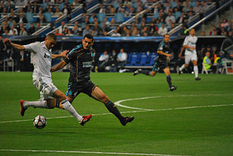 Karim Benzema - Benzema playing against Marseille in a 2009 Champions League match.
