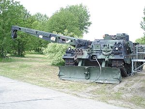 Armoured recovery vehicle - A German Army BPz3 Büffel (2006)