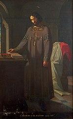 Retrato imaginario de Bermudo I, por Isidoro Lozano.