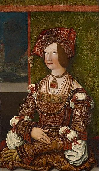 Bianca Maria Sforza - Bianca Maria Sforza, by Bernhard Strigel, ca. 1505/1510.