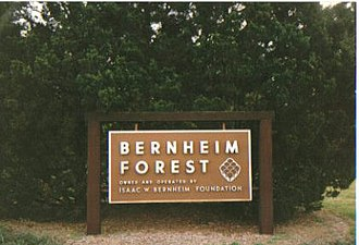 Bernheim Arboretum and Research Forest - Sign at the entrance of Bernheim Arboretum and Research Forest