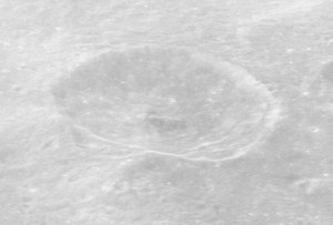 Bernoulli (crater) - Oblique view from Apollo 16